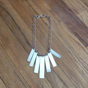 "Unusual necklace 16"" longest center piece is3"""